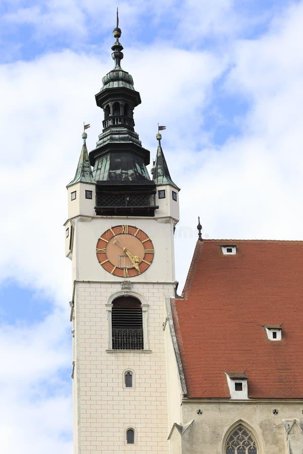 Ο πύργος εκκλησιών της εκκλησίας Piaristenkirche, Krems, χαμηλότερη Αυστρία pianist στοκ φωτογραφίες