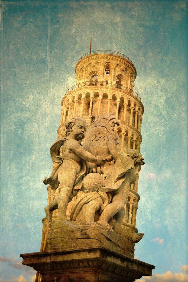 Ο πύργος της Πίζας στην Τοσκάνη στοκ εικόνες με δικαίωμα ελεύθερης χρήσης