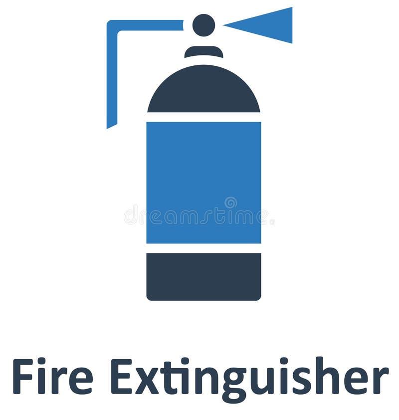 Ο πυροσβεστήρας απομόνωσε το διανυσματικό εικονίδιο που μπορεί εύκολα να τροποποιήσει ή να εκδώσει απεικόνιση αποθεμάτων