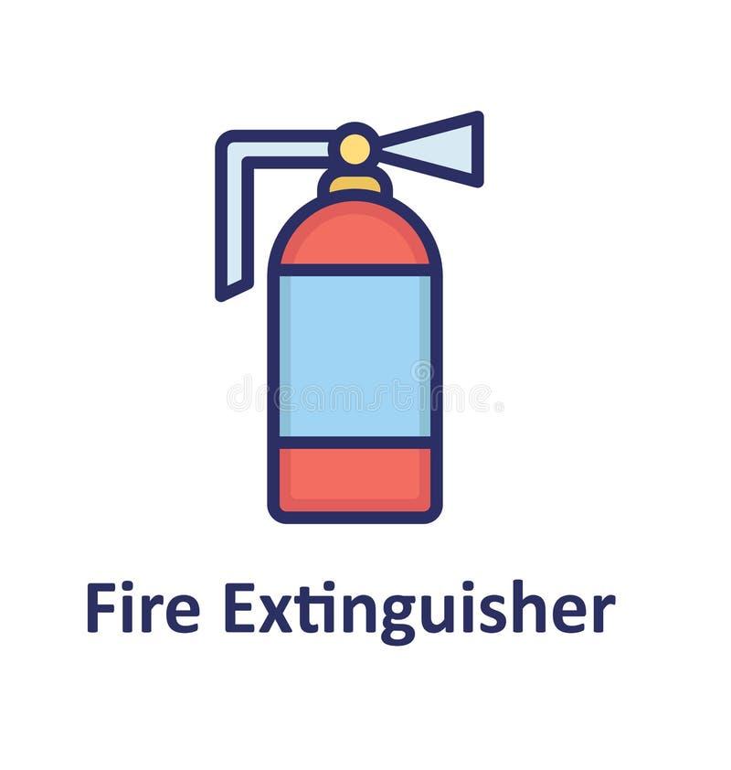 Ο πυροσβεστήρας απομόνωσε το διανυσματικό εικονίδιο που μπορεί εύκολα να τροποποιήσει ή να εκδώσει διανυσματική απεικόνιση
