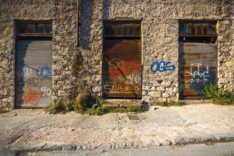 Οld, покинутая мастерская стоковая фотография rf