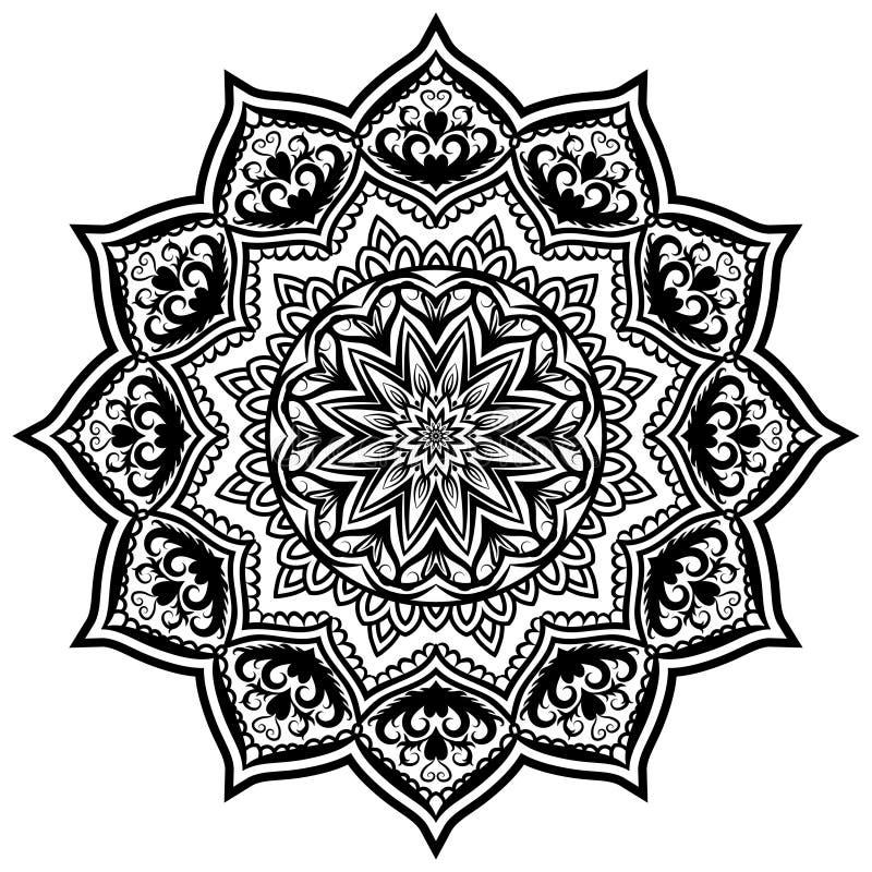 Δαντέλλα 05 σχεδίων Mandala απεικόνιση αποθεμάτων