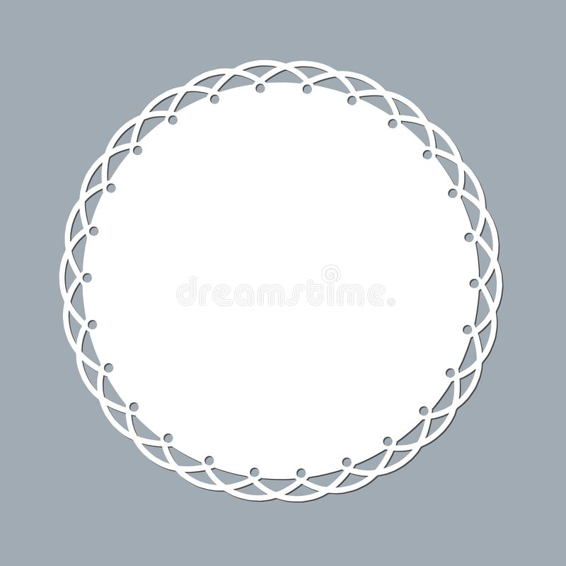 _δαντέλλα doily λέιζερ κόβω χαρτί κύκλος σχέδιο διακόσμηση πρότυπο πρότυπο ένας κύκλος άσπρος δαντέλλα doily πετσέτα lasercut πλα απεικόνιση αποθεμάτων
