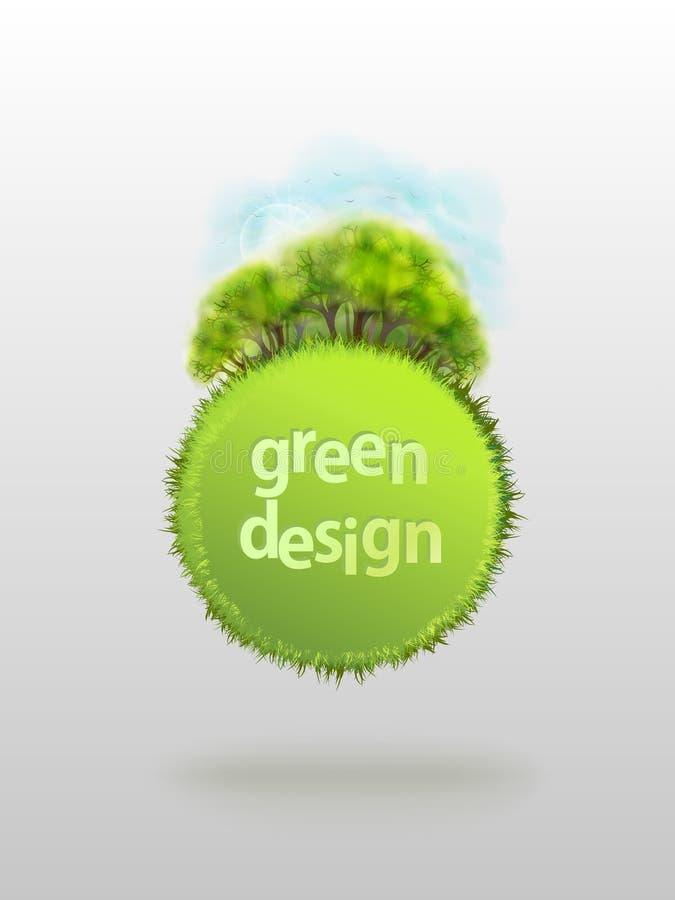 Δασικό πράσινο διάνυσμα άνοιξη Eco στοκ φωτογραφία με δικαίωμα ελεύθερης χρήσης