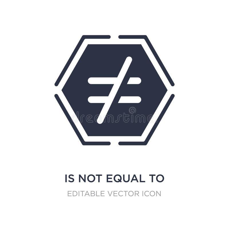 δεν είναι ίσος με το εικονίδιο στο άσπρο υπόβαθρο Απλή απεικόνιση στοιχείων από την έννοια σημαδιών ελεύθερη απεικόνιση δικαιώματος