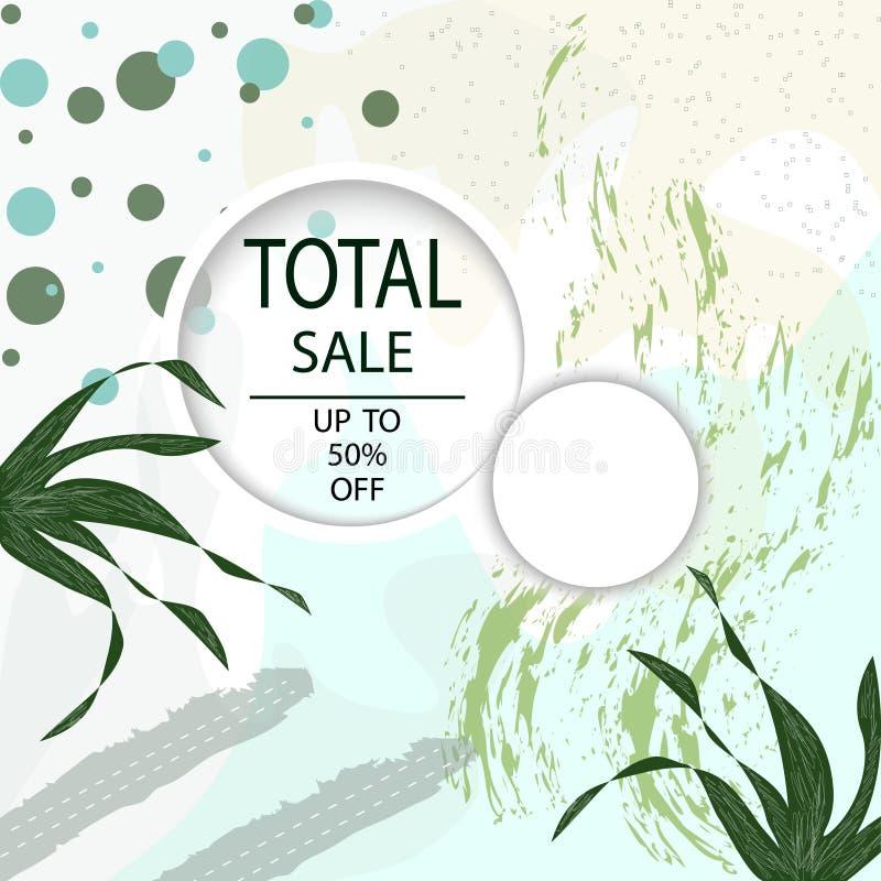 Δημιουργικά συνολικά επιγραφές ή εμβλήματα πώλησης με την προσφορά έκπτωσης Αφίσες τέχνης Σχέδιο για την εποχιακή εκκαθάριση Μπορ απεικόνιση αποθεμάτων