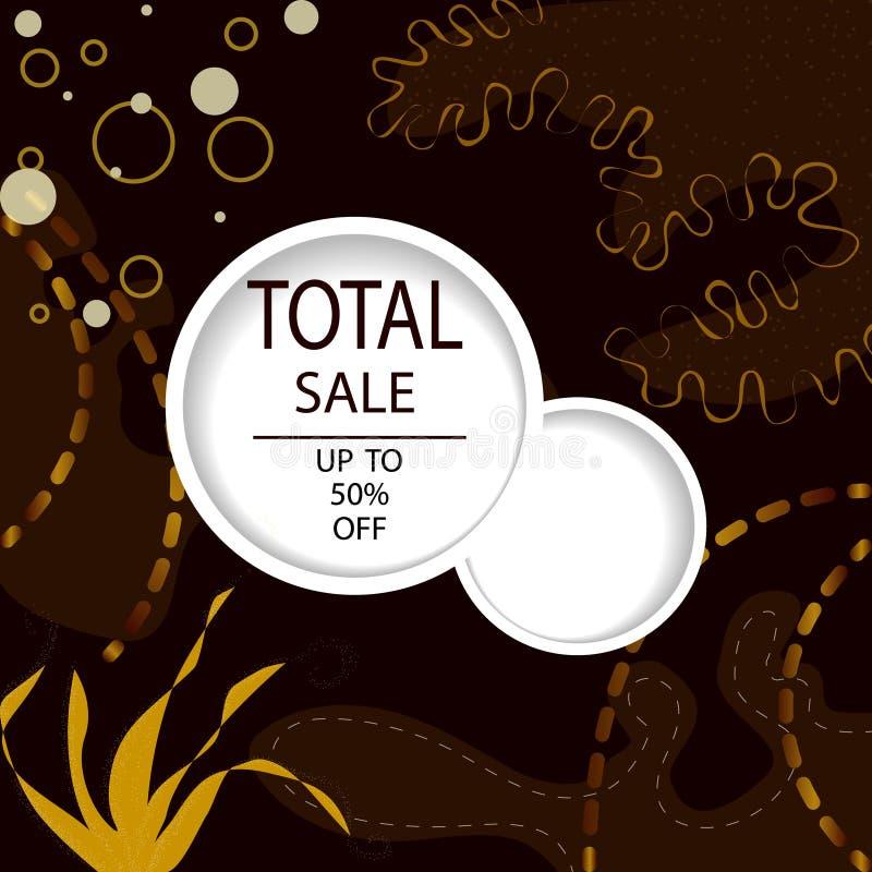 Δημιουργικά συνολικά επιγραφές ή εμβλήματα πώλησης με την προσφορά έκπτωσης Σκοτεινές και χρυσές αφίσες τέχνης Σχέδιο για την επο διανυσματική απεικόνιση