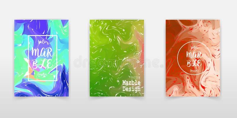 Δημιουργικές καθιερώνουσες τη μόδα κάρτες καθορισμένες Κυματιστά λωρίδες, σύσταση δυσλειτουργίας EPS10 διανυσματικό πρότυπο ελεύθερη απεικόνιση δικαιώματος