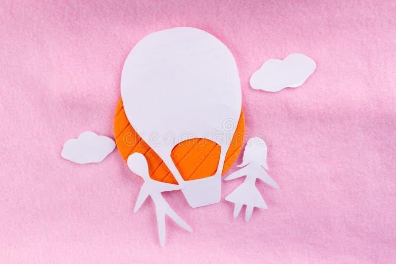 Δημιουργική φωτογραφία έννοιας του αερόστατου στοκ εικόνες με δικαίωμα ελεύθερης χρήσης