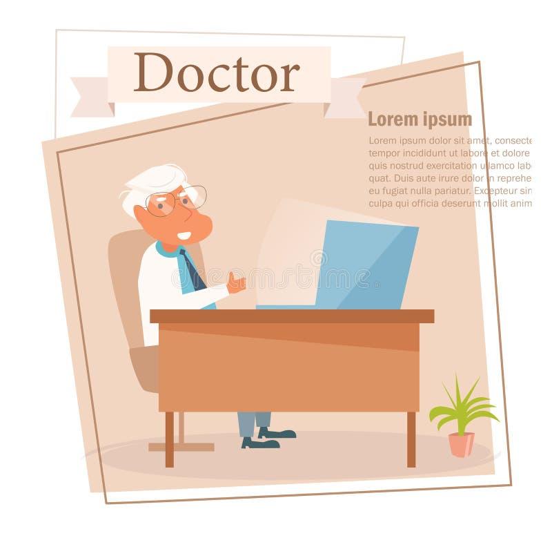 Διάνυσμα γιατρών cartoon Απομονωμένη τέχνη στο άσπρο υπόβαθρο επίπεδος διανυσματική απεικόνιση