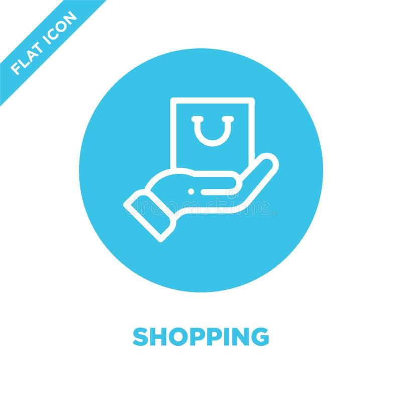 Διάνυσμα εικονιδίων αγορών Λεπτή διανυσματική απεικόνιση εικονιδίων περιλήψεων αγορών γραμμών σύμβολο αγορών για τη χρήση στον Ισ ελεύθερη απεικόνιση δικαιώματος