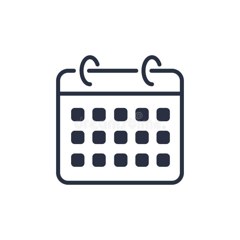 Διάνυσμα ημερολογιακών εικονιδίων απεικόνιση αποθεμάτων