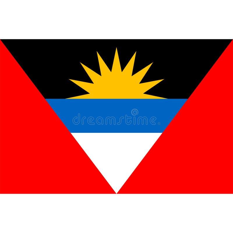 Διάνυσμα σημαιών της Αντίγκουα Μπαρμπούντα που απομονώνεται απεικόνιση αποθεμάτων