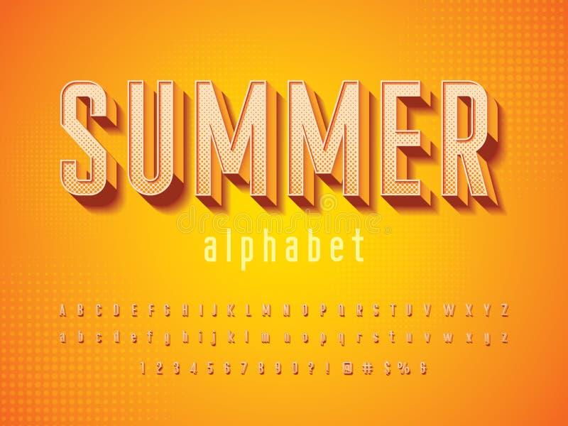 Διάνυσμα του σύγχρονου τρισδιάστατου τολμηρού σχεδίου αλφάβητου απεικόνιση αποθεμάτων