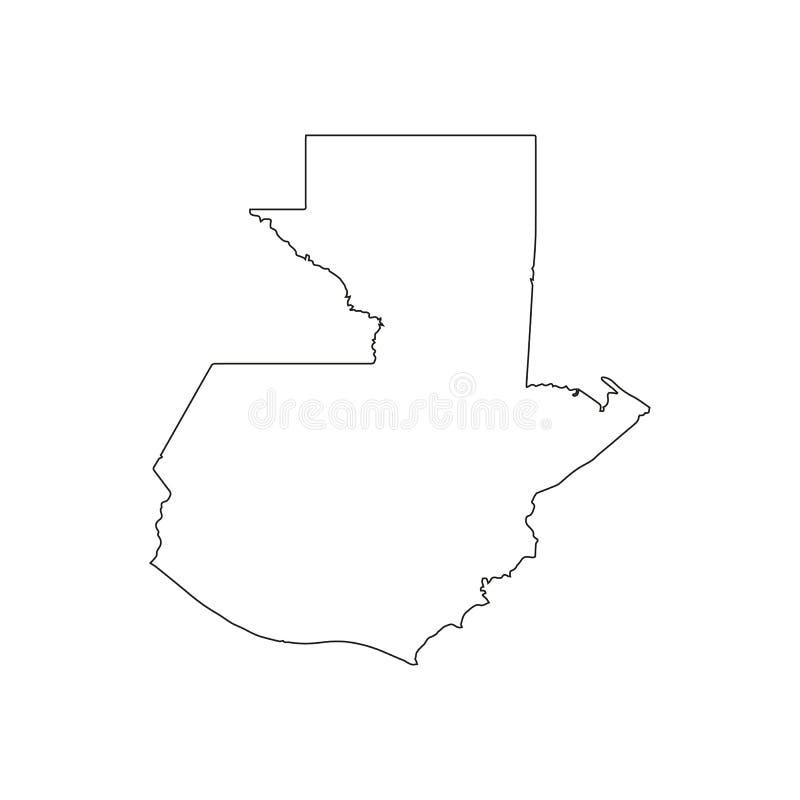 διάνυσμα χαρτών της Γουατ ελεύθερη απεικόνιση δικαιώματος