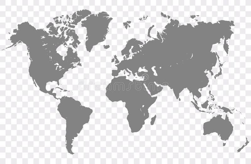 Διάνυσμα παγκόσμιων χαρτών ελεύθερη απεικόνιση δικαιώματος