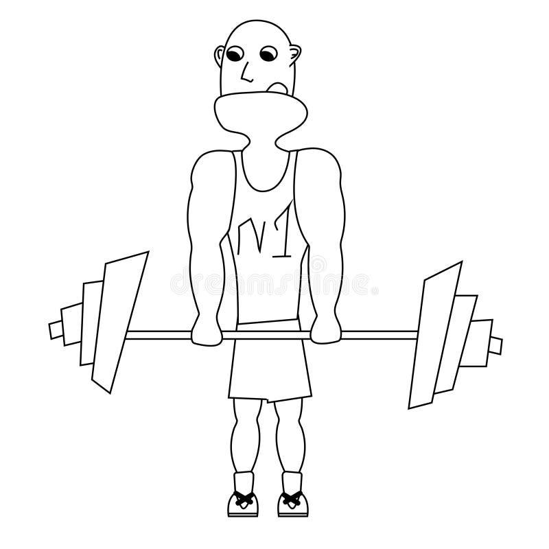 Διάνυσμα περιλήψεων Weightlifter ελεύθερη απεικόνιση δικαιώματος