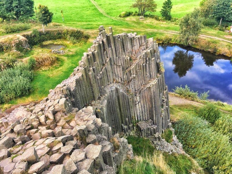 Διάσημος σχηματισμός βράχου στη Δημοκρατία της Τσεχίας στοκ εικόνες με δικαίωμα ελεύθερης χρήσης