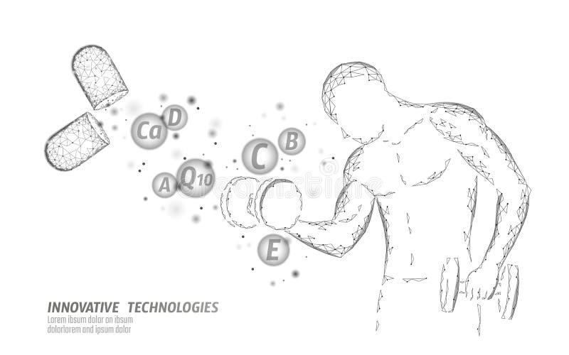 Διαιτητική bodybuilding κάψα βιταμινών συμπληρωμάτων Τεχνολογία καινοτομίας χημείας επιστήμης ιατρικής φαρμάκων μορφής ικανότητας απεικόνιση αποθεμάτων