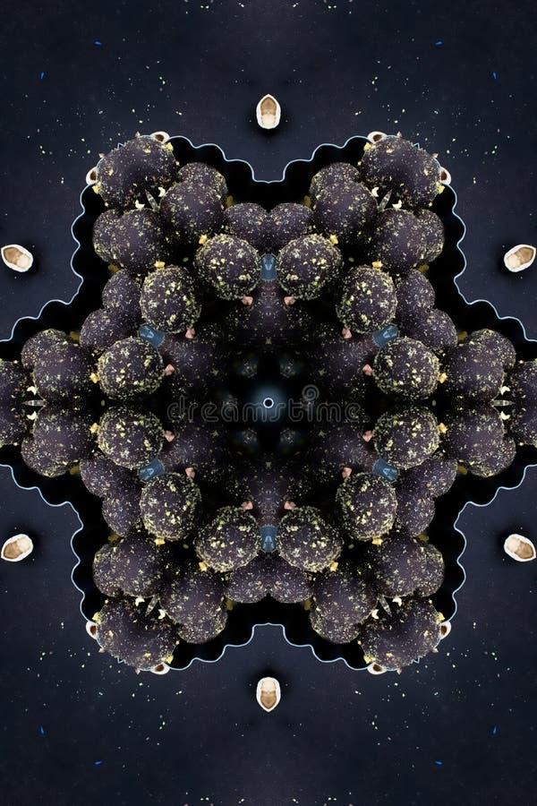 Διακοσμητικό floral σκοτεινό υπόβαθρο διακοσμητικός τρύγος στ&o ελεύθερη απεικόνιση δικαιώματος