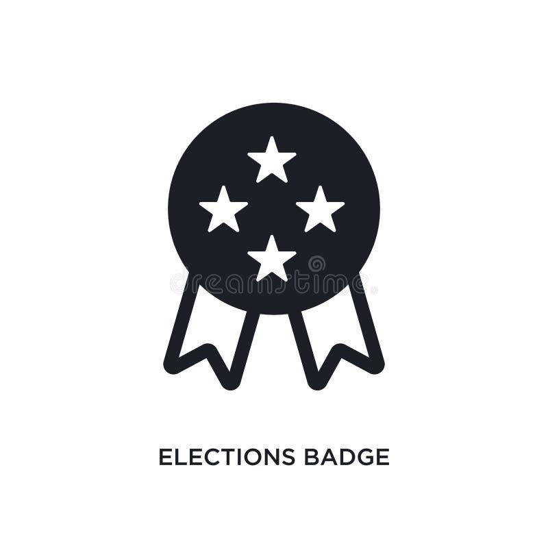 διακριτικό εκλογών με ένα απομονωμένο αστέρι εικονίδιο απλή απεικόνιση στοιχείων από τα πολιτικά εικονίδια έννοιας διακριτικό εκλ ελεύθερη απεικόνιση δικαιώματος