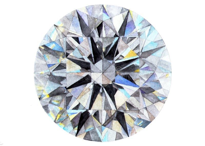Διαμάντι brigid η διακοσμητική εικόνα απεικόνισης πετάγματος ραμφών το κομμάτι εγγράφου της καταπίνει το watercolor διανυσματική απεικόνιση