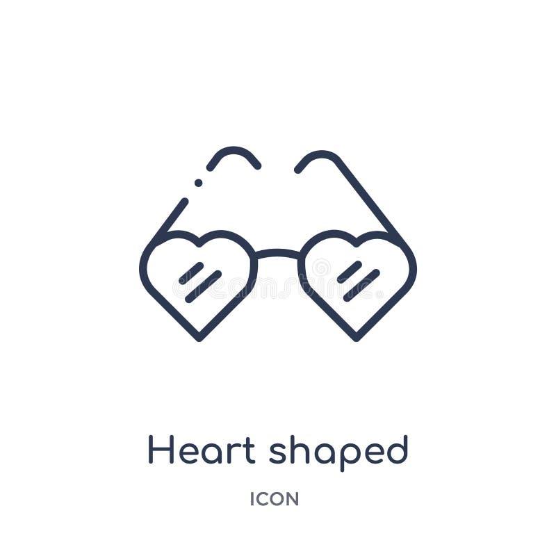 διαμορφωμένα καρδιά eyeglasses; εικονίδιο από τη συλλογή περιλήψεων ιματισμού γυναικών Λεπτά διαμορφωμένα καρδιά eyeglasses γραμμ απεικόνιση αποθεμάτων