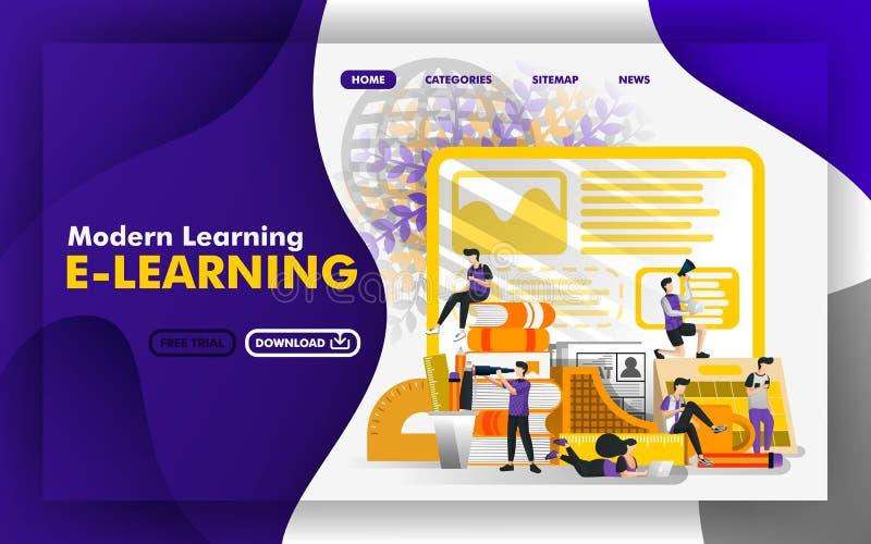 Διανυσματική έννοια απεικόνισης ιστοχώροι για τη σύγχρονη εκμάθηση ή την ε-εκμάθηση Η ομάδα σπουδαστών μελετά στη μέση του σταθμο διανυσματική απεικόνιση