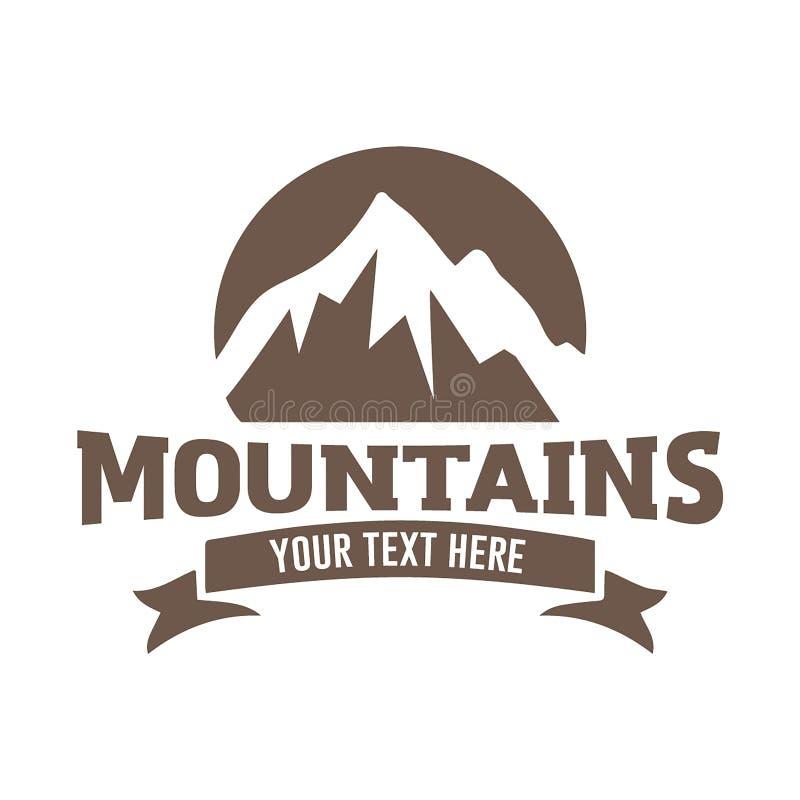 Διανυσματική έννοια απεικόνισης λογότυπων βουνών, κατάλληλη για οικονομικό, το λογαριασμό, την επιχείρηση, το ταξίδι και άλλες επ ελεύθερη απεικόνιση δικαιώματος