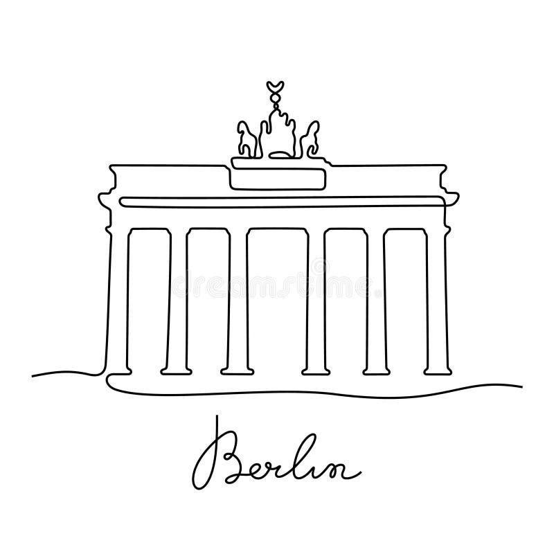 Διανυσματική απεικόνιση γραμμών Berline συνεχής ελεύθερη απεικόνιση δικαιώματος