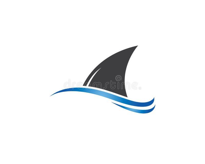 Διανυσματική απεικόνιση εικονιδίων προτύπων λογότυπων πτερυγίων καρχαριών ελεύθερη απεικόνιση δικαιώματος