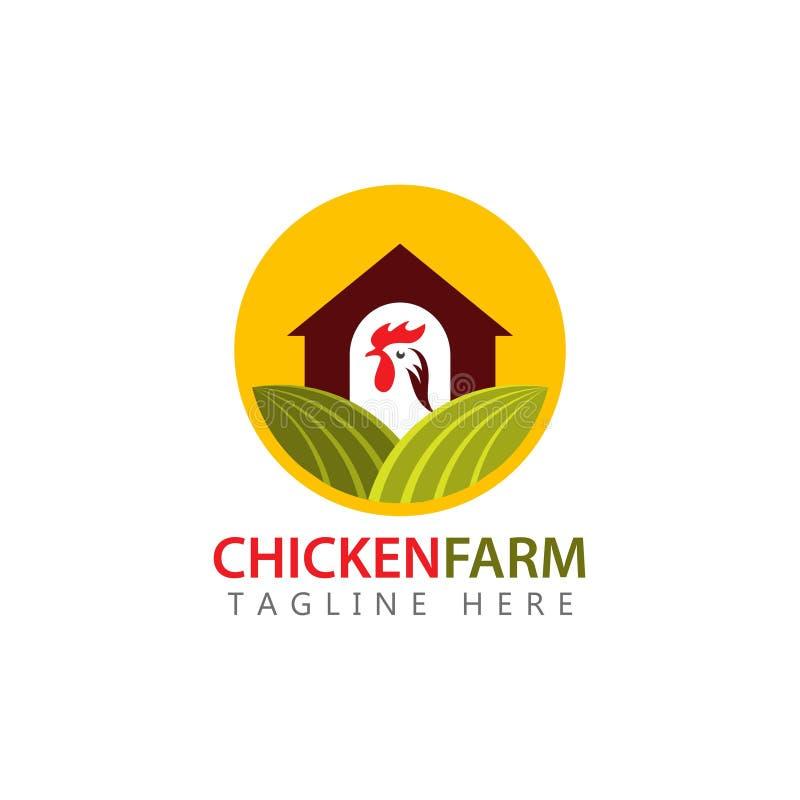Διανυσματική απεικόνιση σχεδίου προτύπων αγροτικών λογότυπων κοτόπουλου ελεύθερη απεικόνιση δικαιώματος