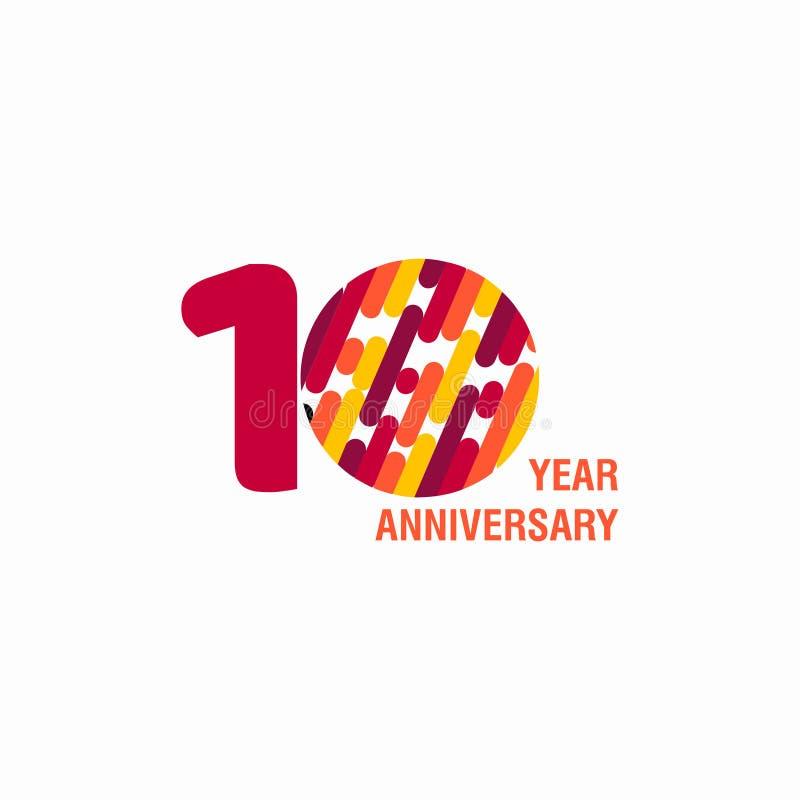10 διανυσματική απεικόνιση σχεδίου προτύπων επετείου έτους απεικόνιση αποθεμάτων