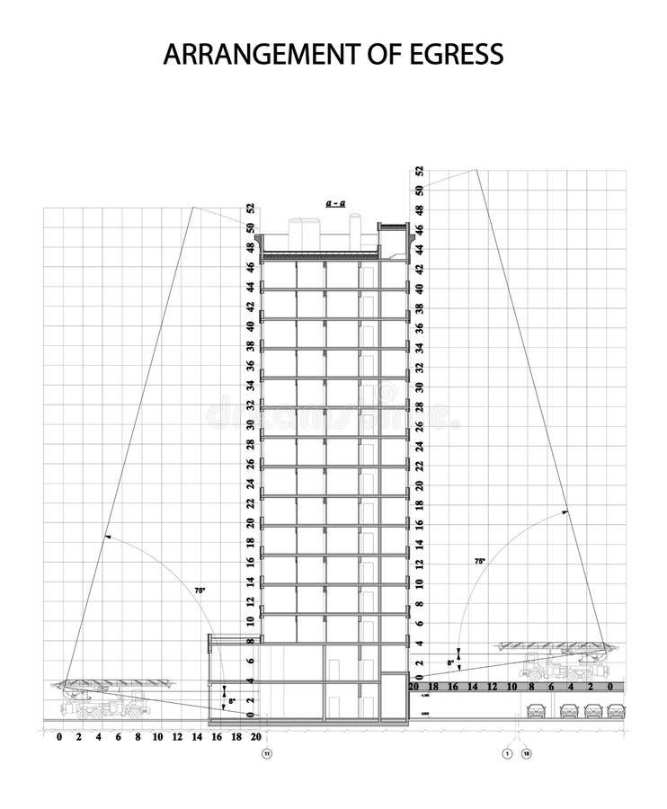 Διανυσματική απεικόνιση της εξόδου ρύθμισης/του σχεδίου/της εκκένωσης έκτακτης ανάγκης ελεύθερη απεικόνιση δικαιώματος