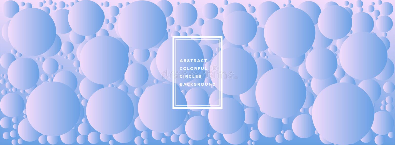 Διανυσματική απεικόνιση του αφηρημένου ζωηρόχρωμου σχεδίου προτύπων κύκλων για το υπόβαθρο διανυσματική απεικόνιση