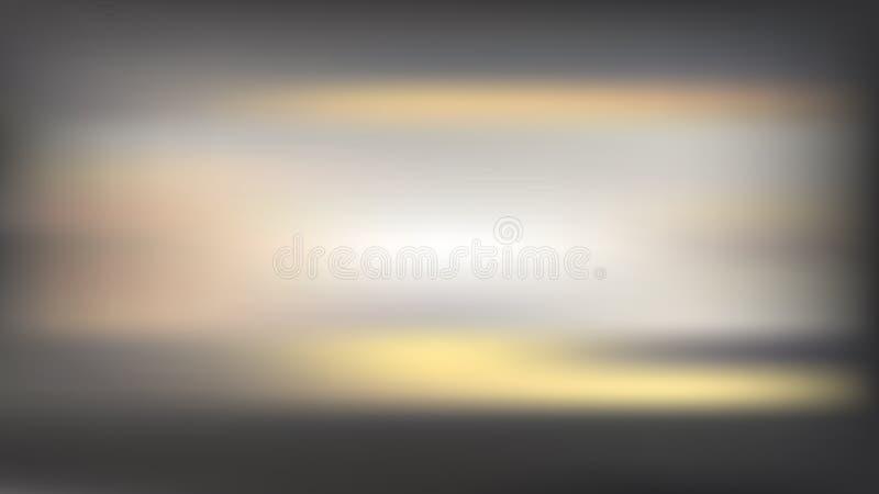 Διανυσματική θαμπάδα baclkground με τις οριζόντιες χρυσές γραμμές Ηλιοβασίλεμα ελεύθερη απεικόνιση δικαιώματος