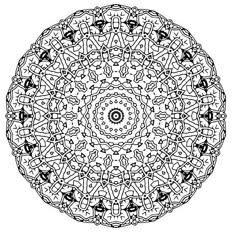 Διανυσματική τέχνη Mandala, διαμορφωμένα λουλούδια διανυσματική απεικόνιση