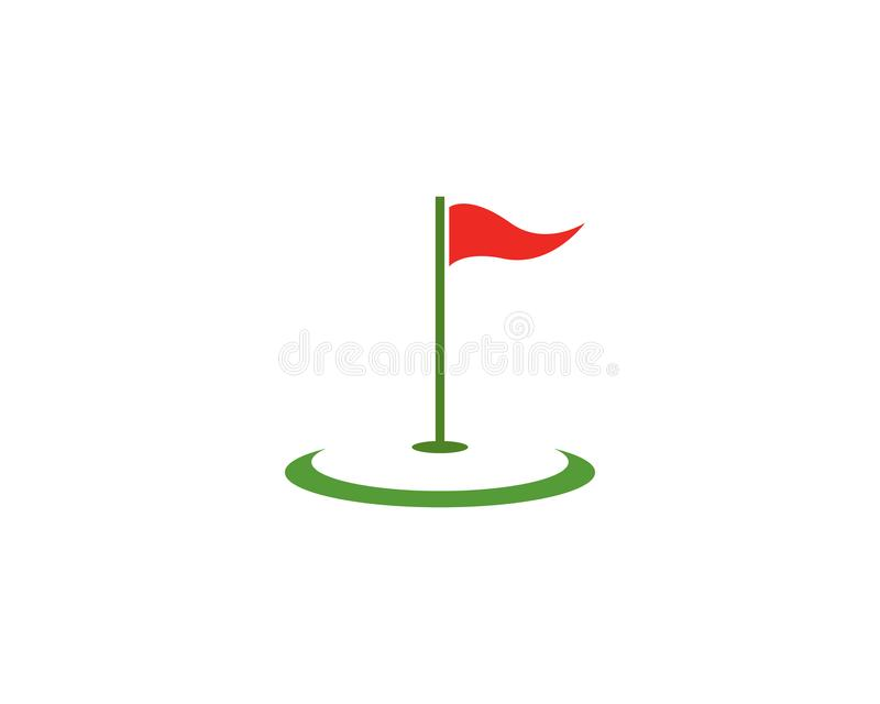 Διανυσματικό εικονίδιο απεικόνισης προτύπων λογότυπων γκολφ απεικόνιση αποθεμάτων