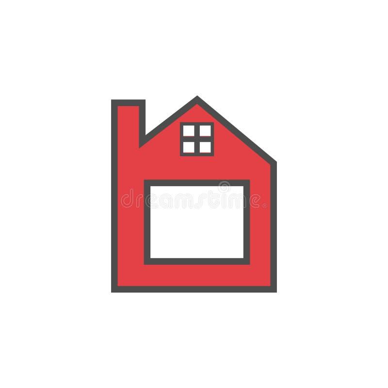 Διανυσματικό εικονίδιο εγχώριων λογότυπων γραμμάτων β απεικόνισης διανυσματική απεικόνιση