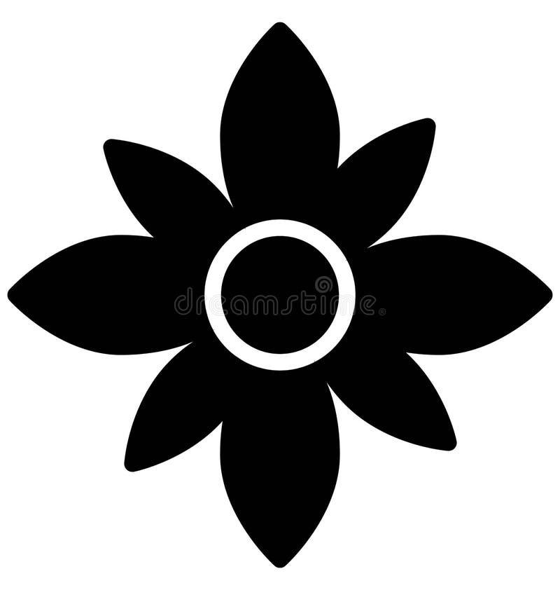 Διανυσματικό εικονίδιο λουλουδιών Anemone που μπορεί εύκολα τροποποιημένος ή να εκδώσει απεικόνιση αποθεμάτων