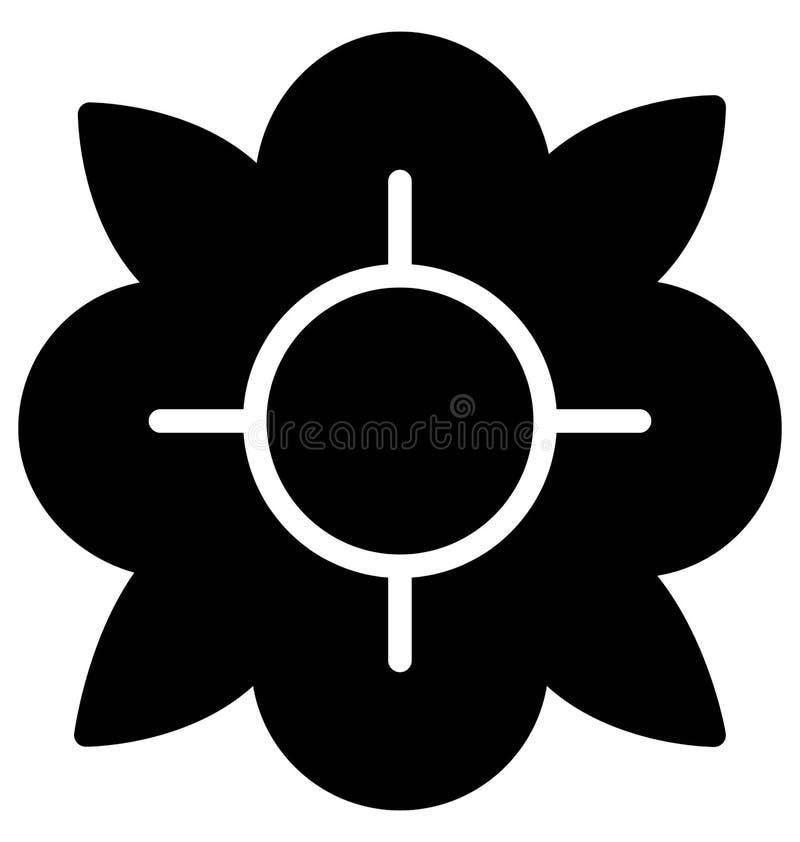 Διανυσματικό εικονίδιο λουλουδιών Anemone που μπορεί εύκολα τροποποιημένος ή να εκδώσει ελεύθερη απεικόνιση δικαιώματος
