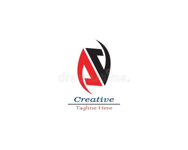 Διανυσματικό εικονίδιο ονόματος AA αρχικό logo Company ελεύθερη απεικόνιση δικαιώματος