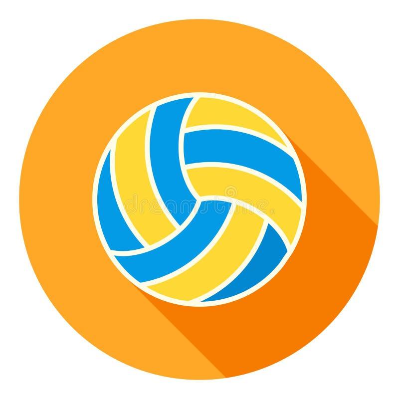 Διανυσματικό εικονίδιο πετοσφαίρισης, Volley αθλητικό εικονίδιο, σύμβολο αθλητικών σφαιρών Σύγχρονο, επίπεδο μακροχρόνιο διανυσμα απεικόνιση αποθεμάτων