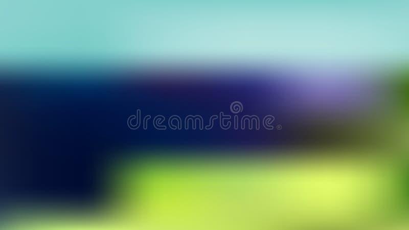 Διανυσματικό ζωηρόχρωμο υπόβαθρο θαμπάδων για τον Ιστό από το θερινό τοπίο ελεύθερη απεικόνιση δικαιώματος
