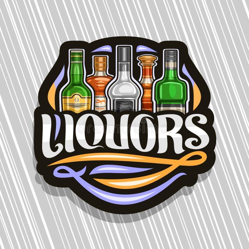 Διανυσματικό λογότυπο για τα ποτά ελεύθερη απεικόνιση δικαιώματος