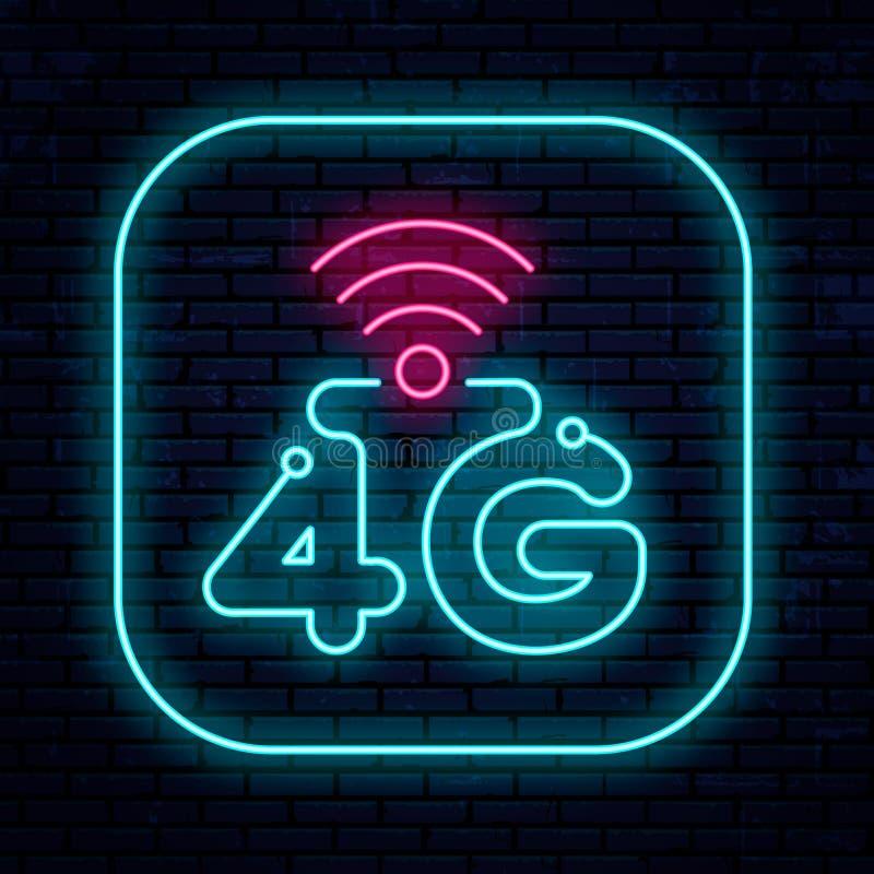 Διανυσματικό δίκτυο σημαδιών 4G νέου διανυσματική απεικόνιση
