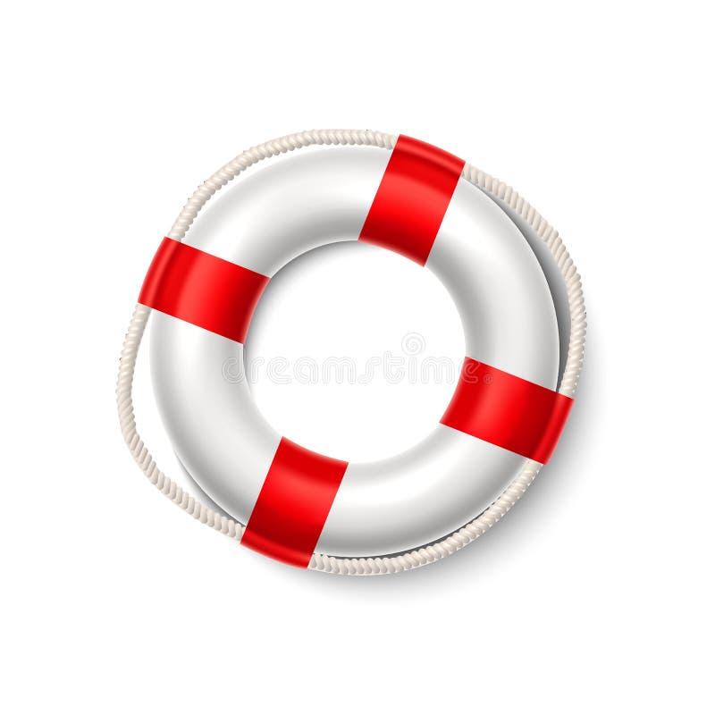 Διανυσματικό δαχτυλίδι ασφάλειας σημαντήρων ζωής lifeguard resqcuer απεικόνιση αποθεμάτων