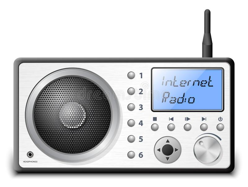 Διανυσματικό ραδιόφωνο Διαδικτύου διανυσματική απεικόνιση