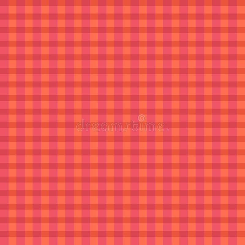Διανυσματικό ρόδινο πορτοκαλί σχέδιο καρό στοκ εικόνες
