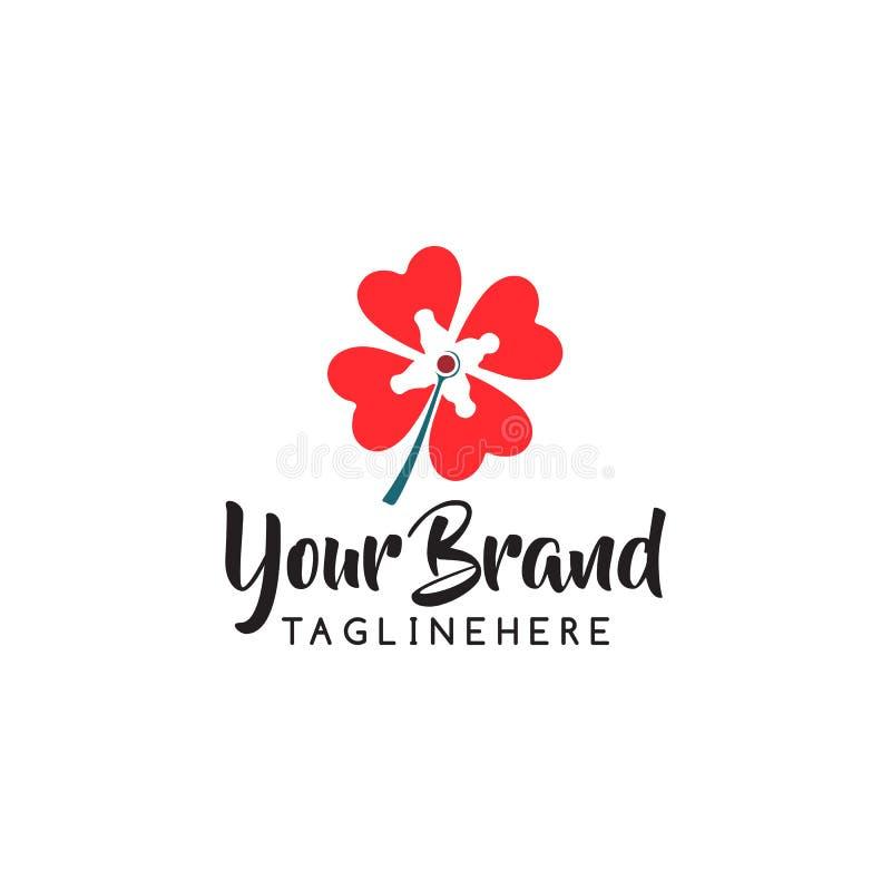 Διανυσματικό σχέδιο εικονιδίων λογότυπων καταστημάτων λουλουδιών Καλλυντικά, SPA, διανυσματικό λογότυπο μπουτίκ διακοσμήσεων σαλο ελεύθερη απεικόνιση δικαιώματος